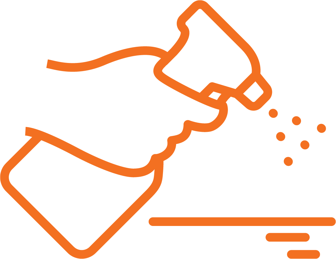 Cleaning Surface Orange Stroke Icon